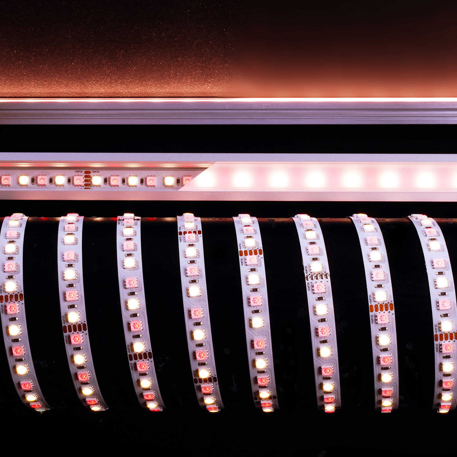 Flexible strip 115W 480 LED 5050 light RGBW 4200K 6200K 24V 3M RA>90 IP20
