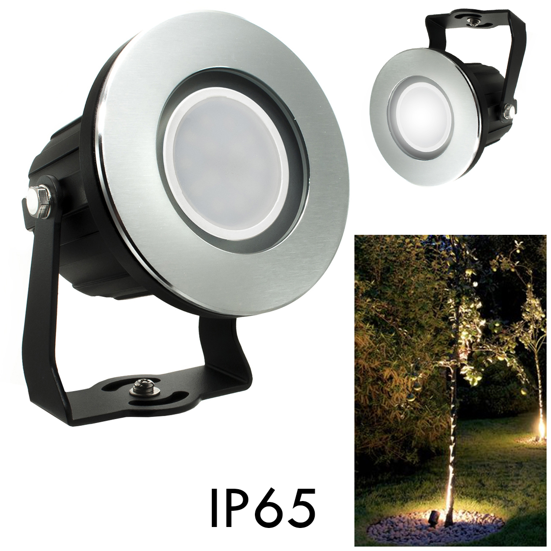 Spotlight spot swivel LED 8W GU10 segnapassi RGB light garden outside IP65