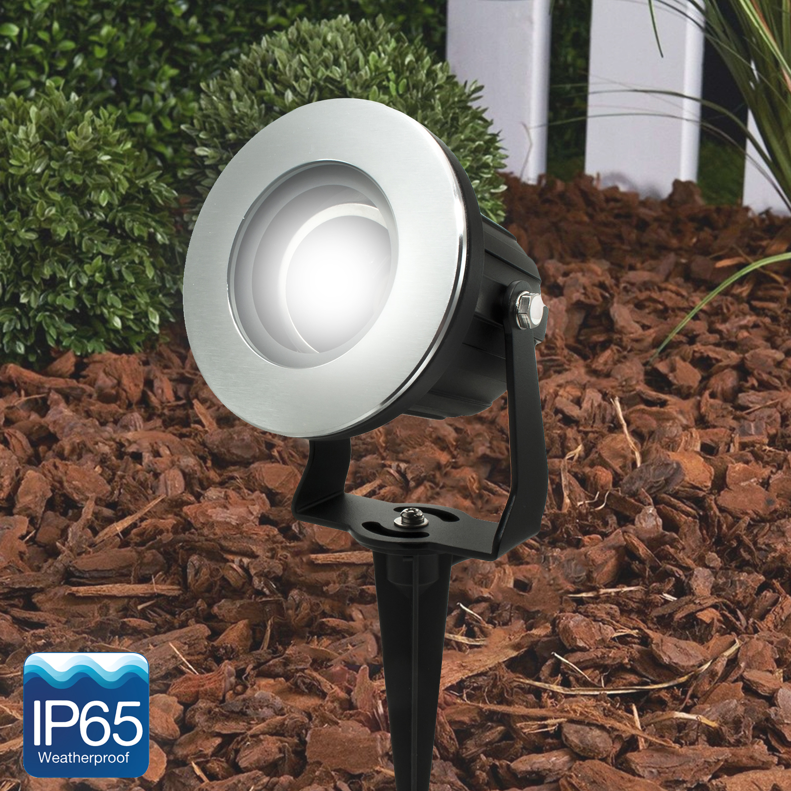 Lighthouse LED spotlight picket swivel segnapassi garden light 8W GU10 RGB IP65