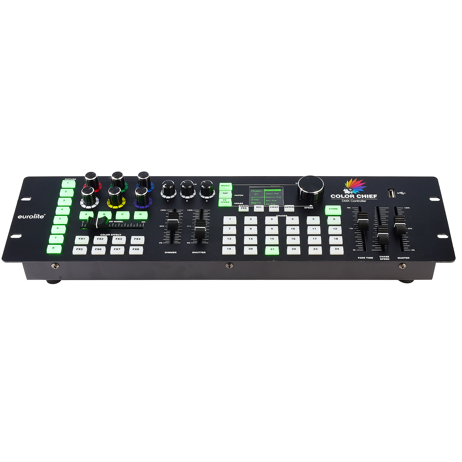Eurolite Color Chief controller LED DMX PRO 512 USB mixer effects lights 8 channels