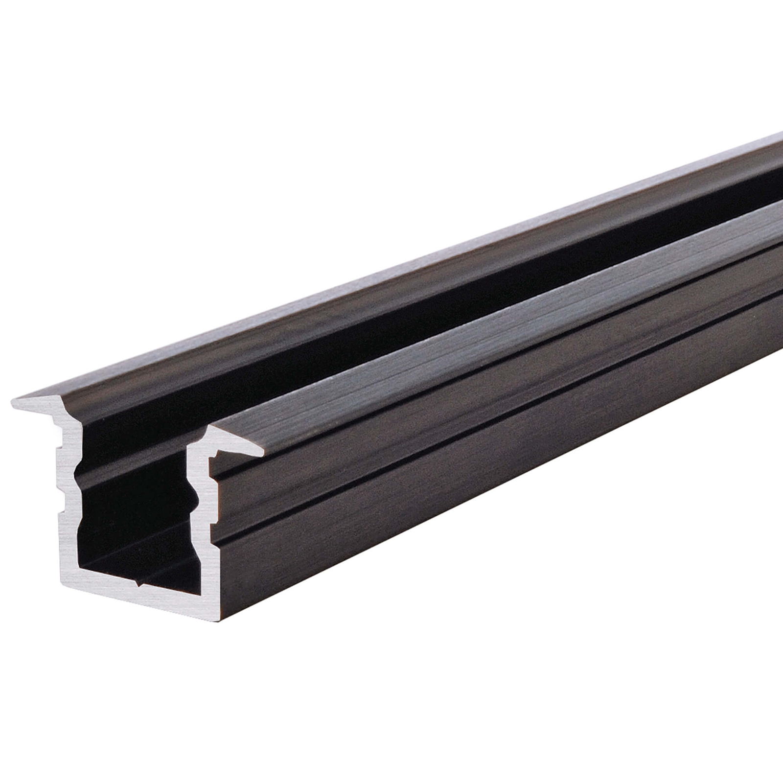 "Aluminum profile, model ""HIGH T-Profile"" flush wood 1 2 m white grey black profile linear led strips"