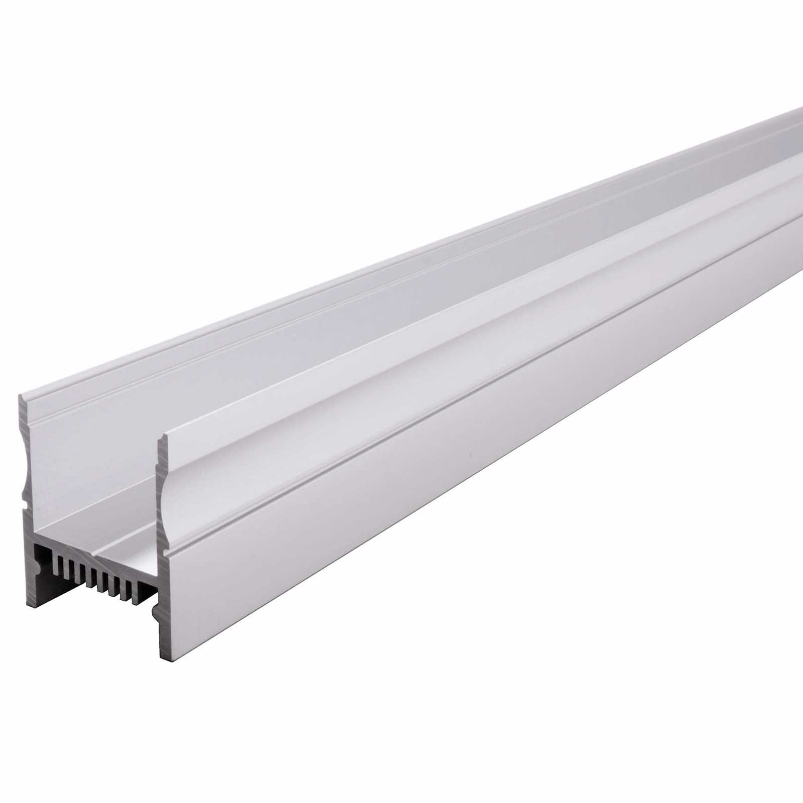 Aluminium profile H PROFILE LED strips sliding support bar linear ceiling wall