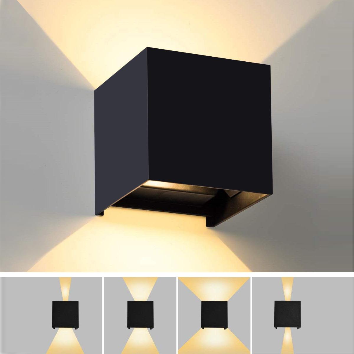 Lampade Per Porticati Esterni applique lampada giardino per esterni ip65 led 12w 1000lm