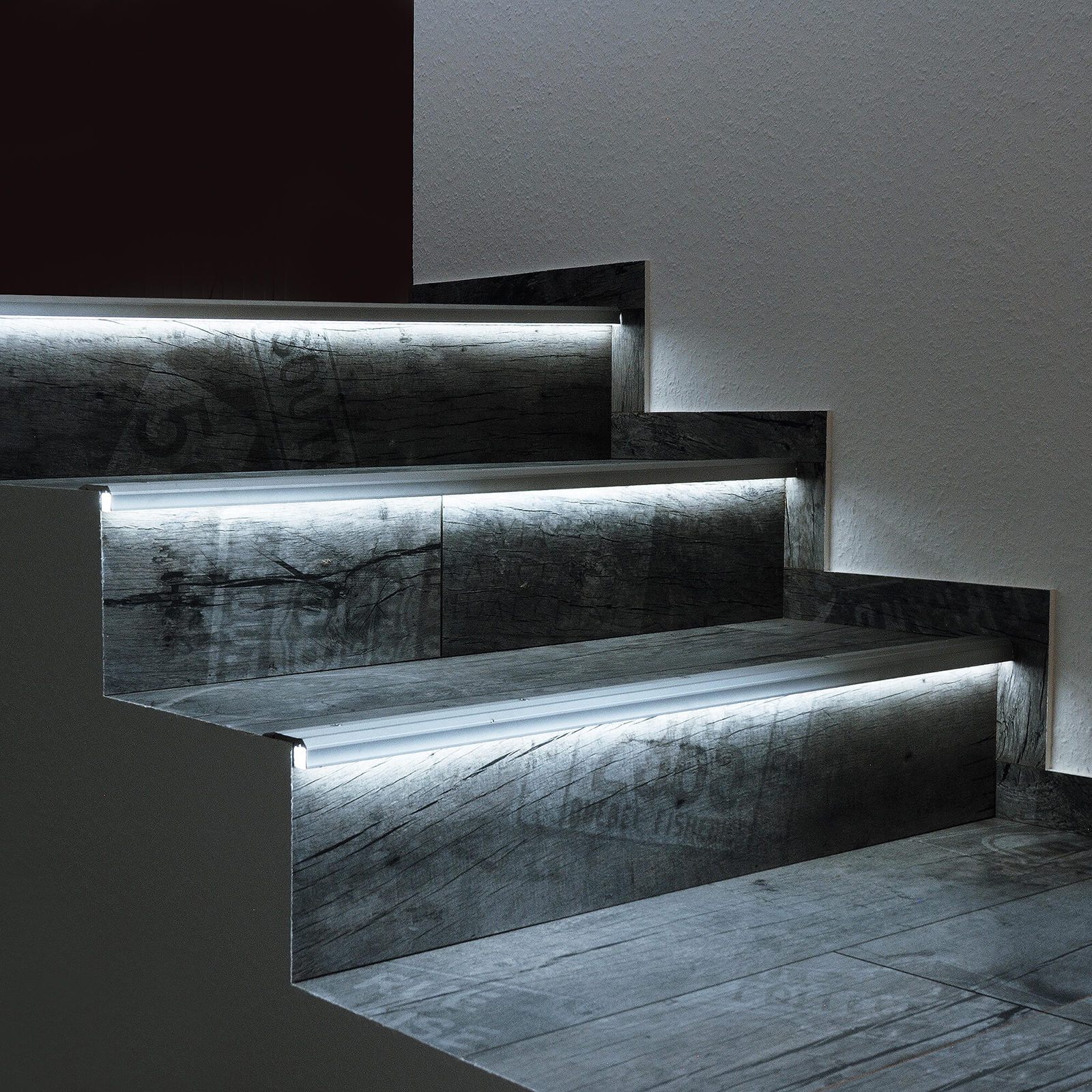 "Aluminium profile anti-slip light 90 degrees for steps, stairs ""Step Profile"" profile linear led strips"