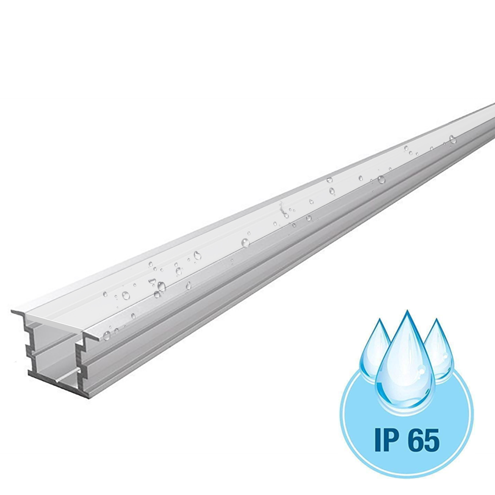 Aluminium profile 34mm flush to the outer T-HIGH IP65 bar linear floor space for LED strips