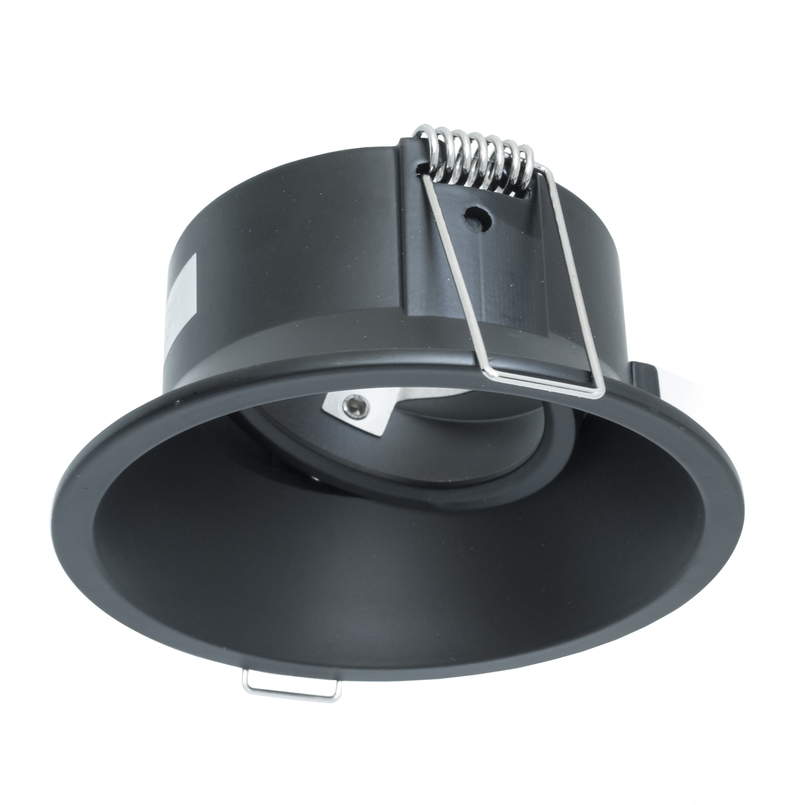 Portafaretto modern round door spotlight black recessed 85mm light adjustable GU10