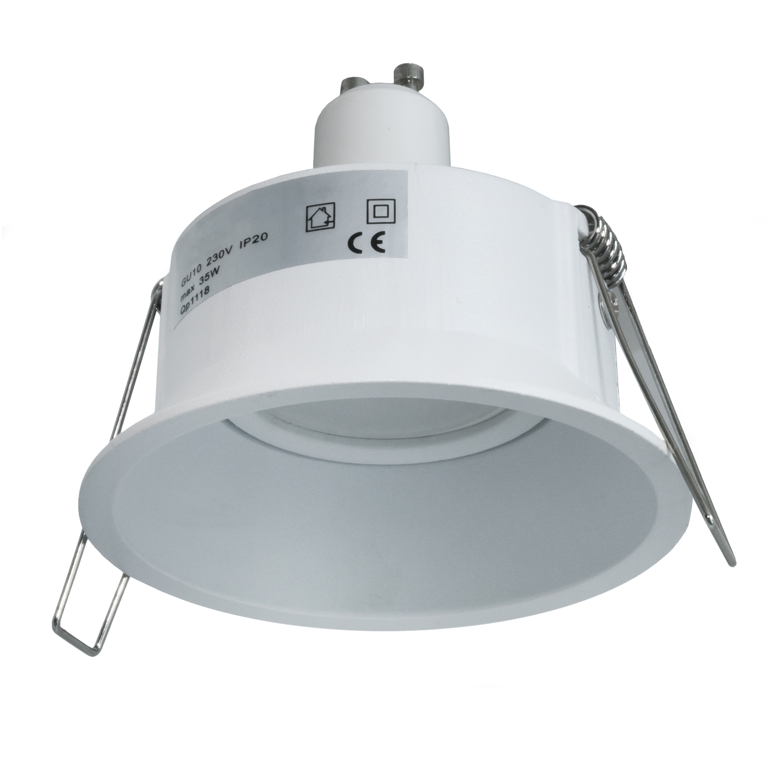 White spotlight recessed round, modern lights input LED lamp 5W GU10 bore 85mm