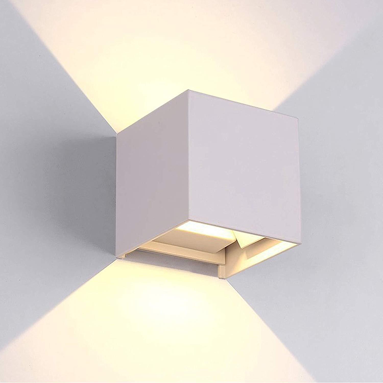 Cono Luce Faretti Led applique da parete a led cubo 6w fascio luce regolabile biemissione 6w 4000k