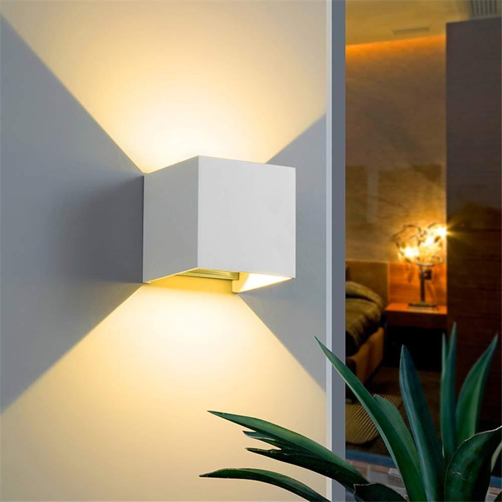 Illuminazione Led A Muro lampada da parete regolabile alluminio x esterno/interno ip65 colore bianco  led 4000k