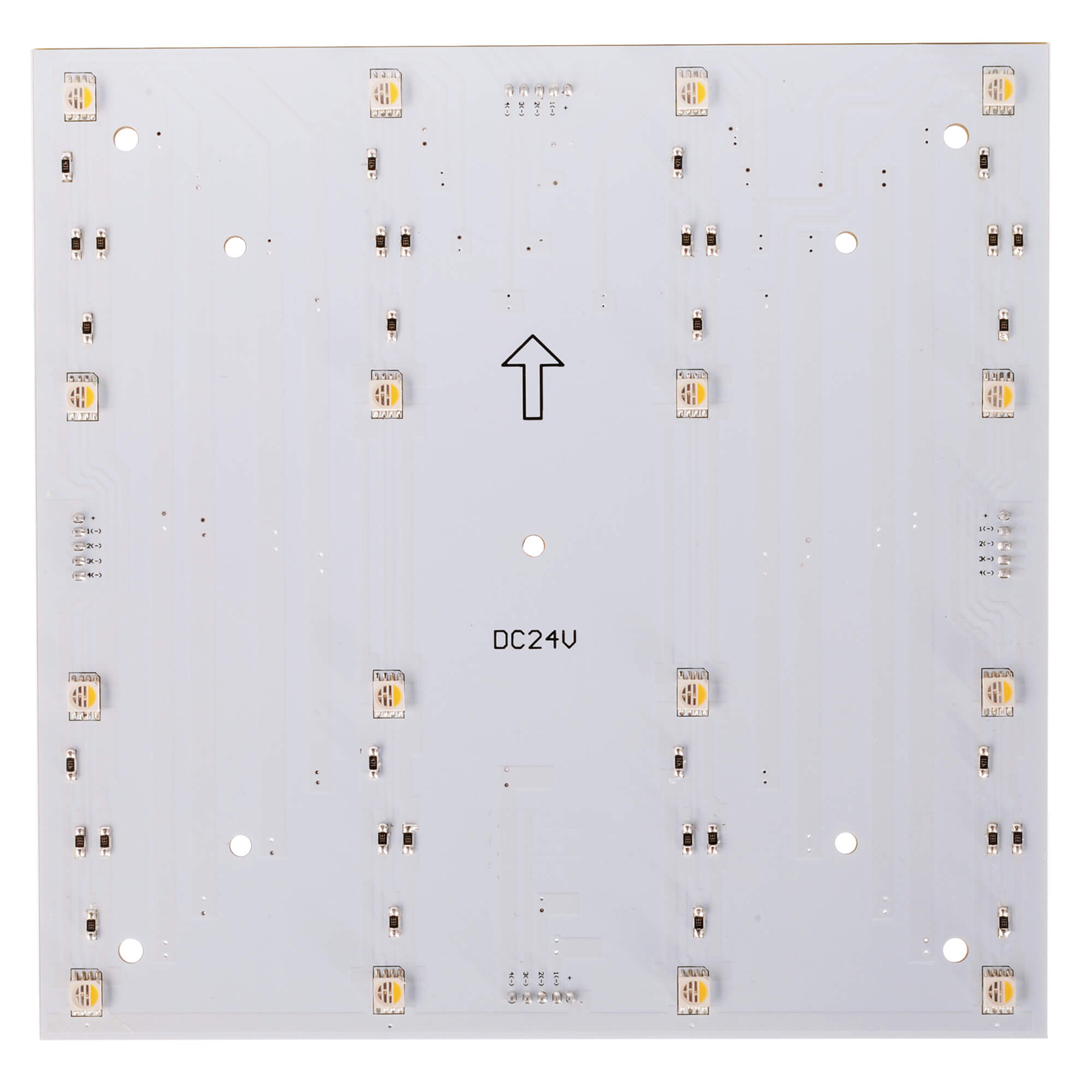 Plate modular LED 7W 24V RGB 3000K dimmable light colored tables signs