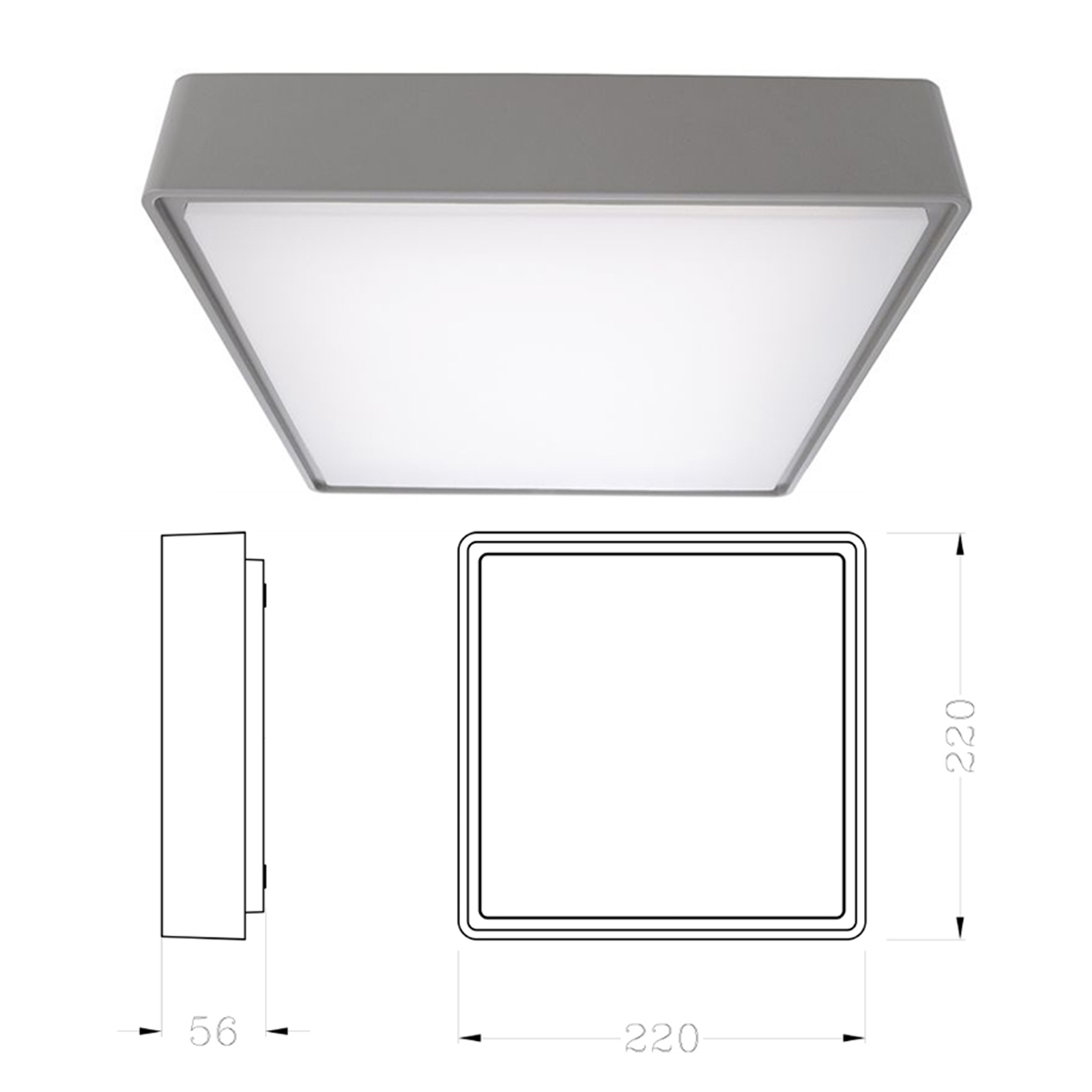 Ceiling light with external led 10w lamp ceiling sconce light wall IP65 690 lumens