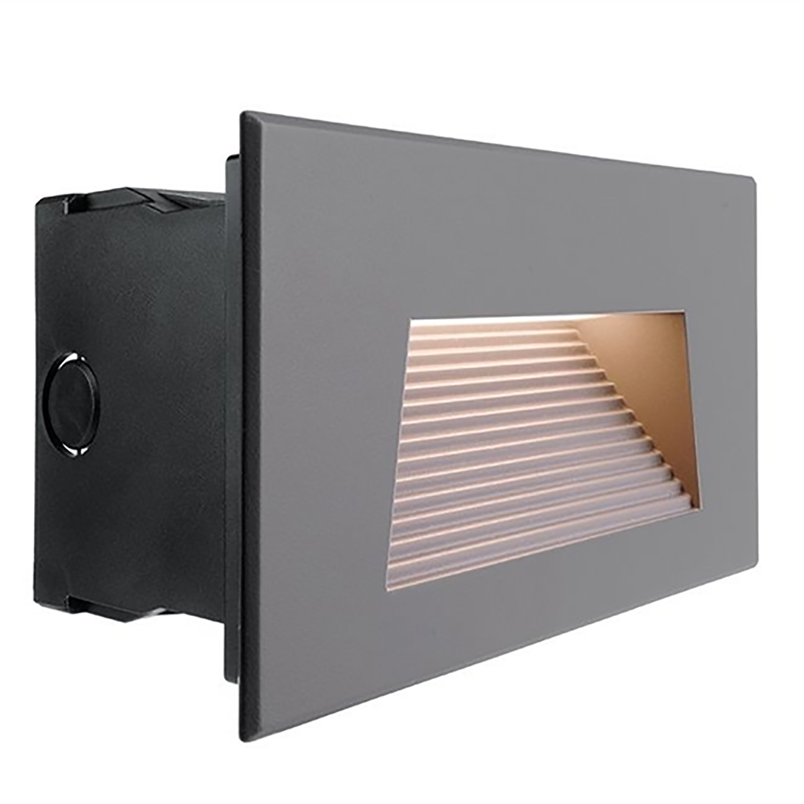 Segnapassi recessed rectangular LED 7W light external stairs garage 3000K IP65 230V