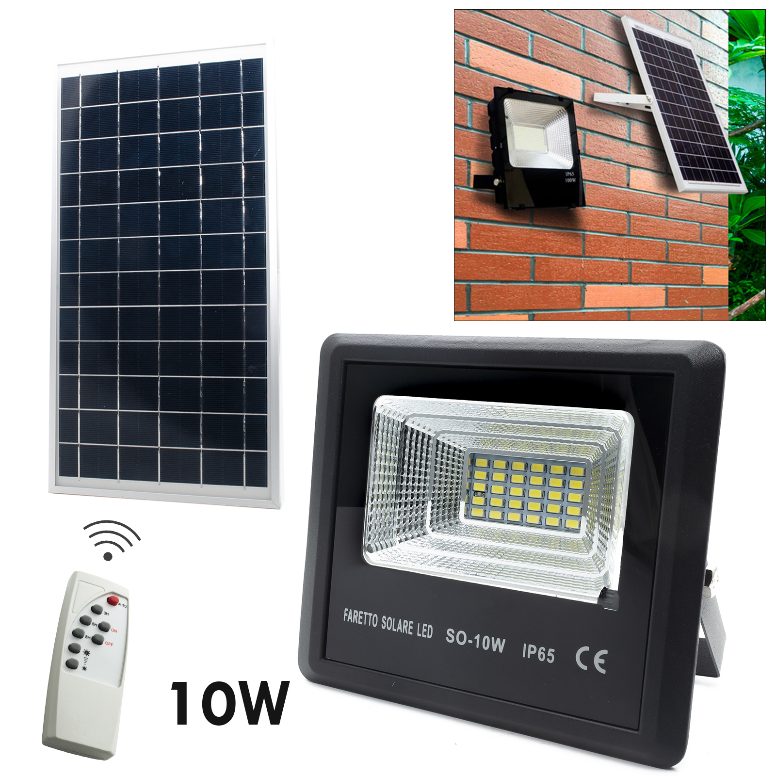 LED spotlight 10W dusk solar light for outdoor garden s