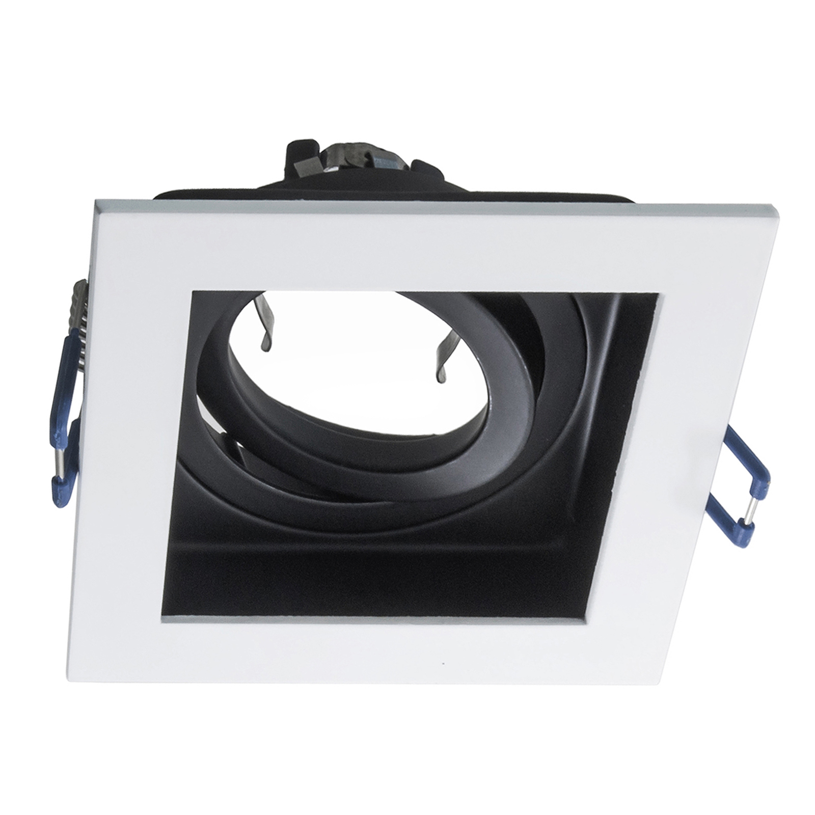 Port spotlight square recessed 9cm white black support led ceiling lighting GU10 GU5.3