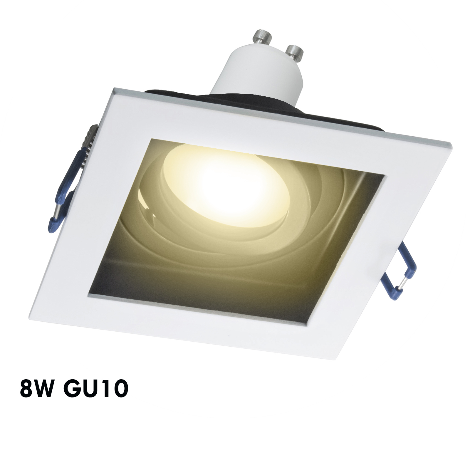 LED spotlight 8W dual color square built-in 9cm lights ceiling kitchen GU10 230V