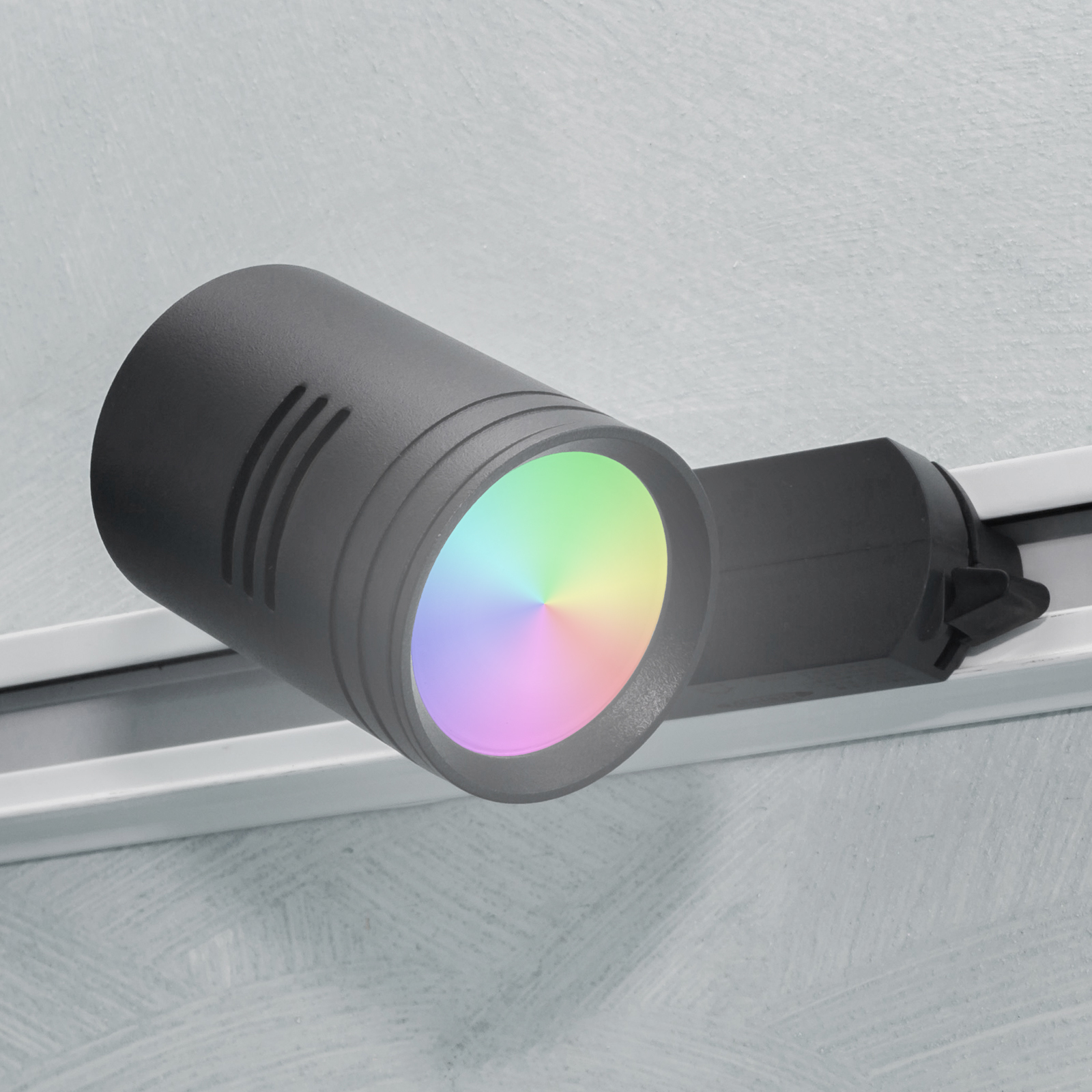 LED track light single-phase GU10 multicolor RGB light chromotherapy 230V