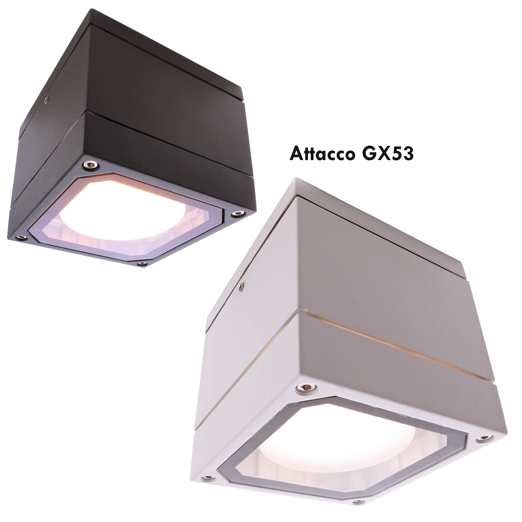 LED spotlight square ceiling lamp GX53 6W light balcony porch IP54 230V