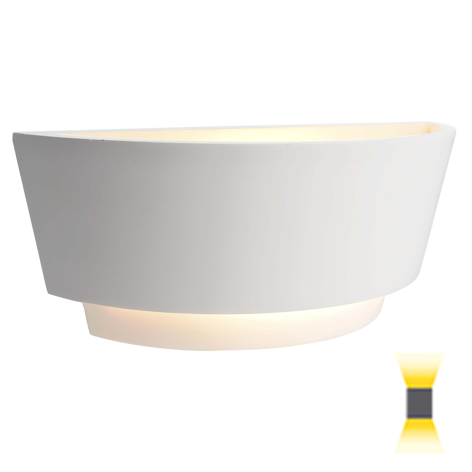 Plaster wall light LED lamp E14 6W double emission corridor light 230V