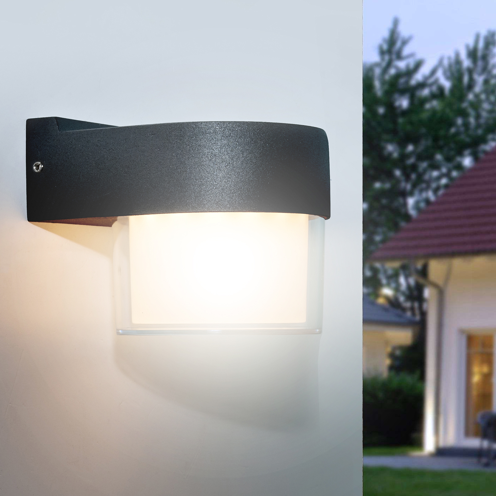 Outdoor LED wall lamp modern wall lamp 7W garden entrance light IP65 230V