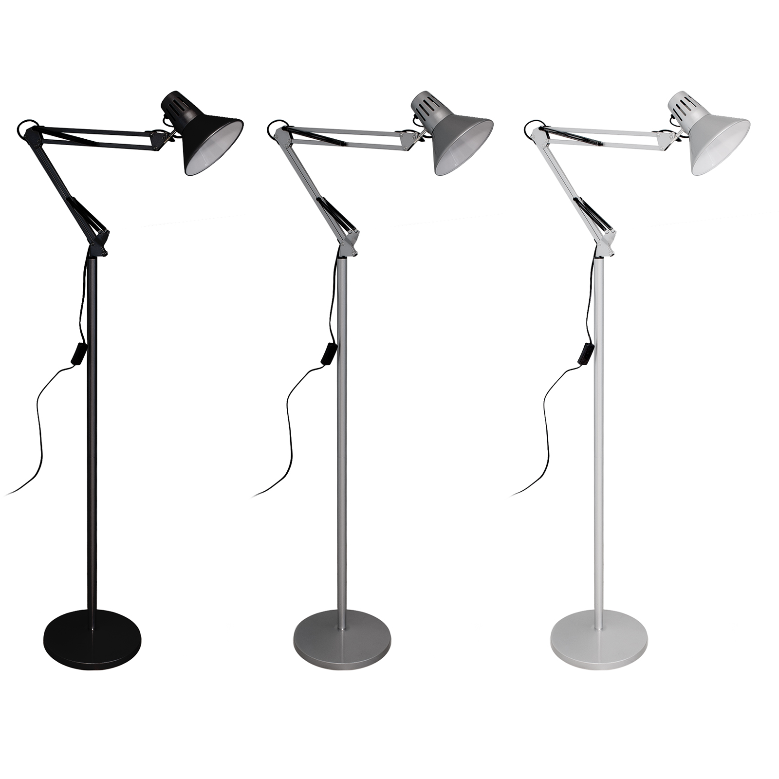 LED lamp E27 10W desk table floor lamp office flexible arm