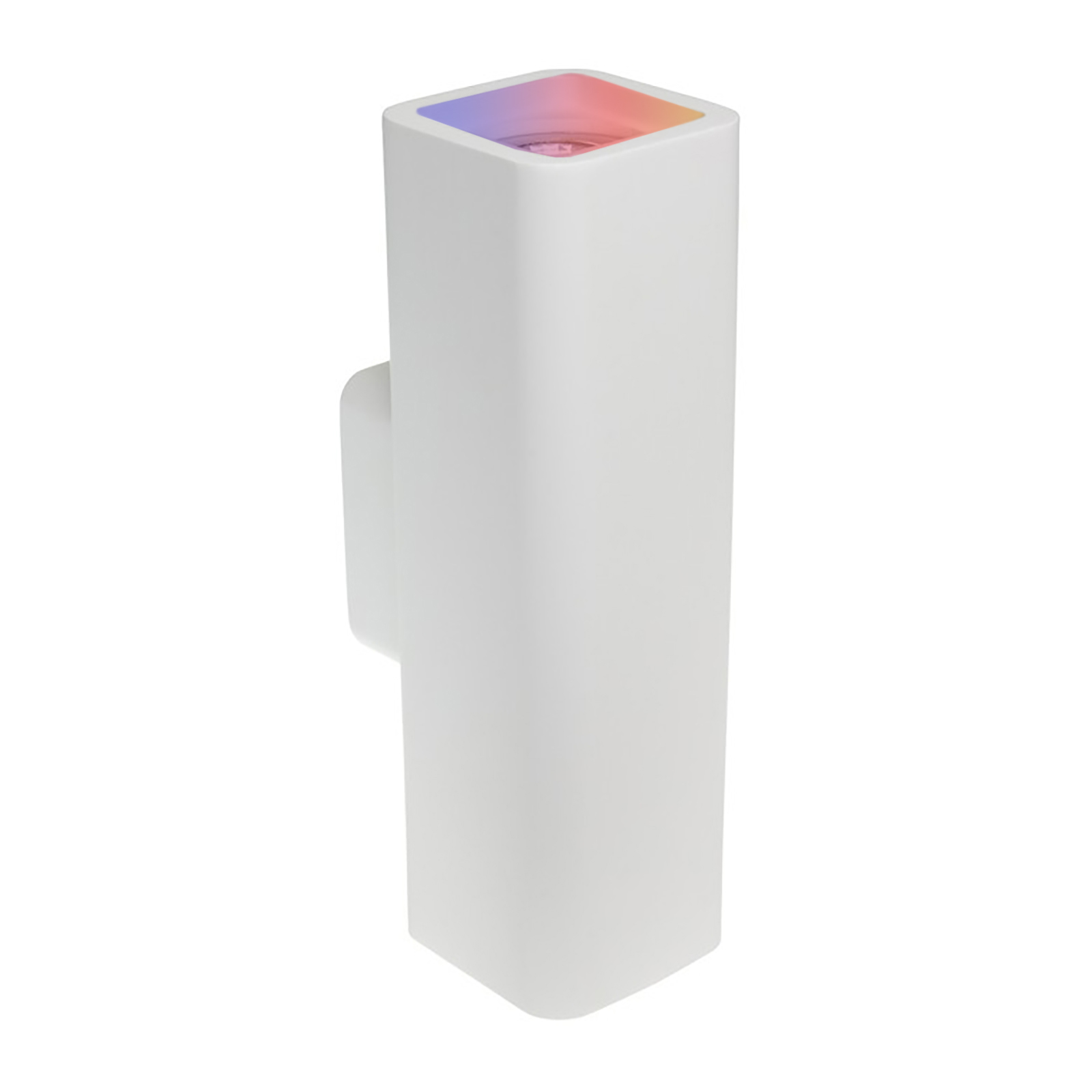 White LED wall light 16W GU10 plaster lamp with double RGB light emission