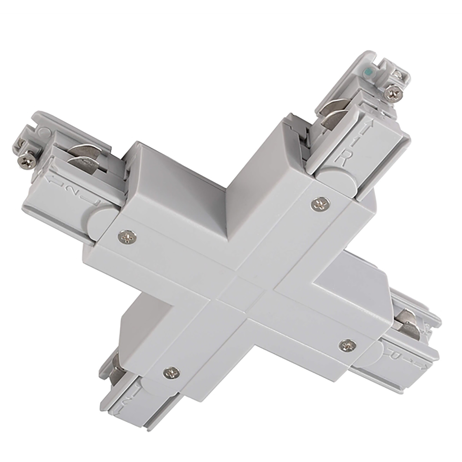 Connector Type X, for binary three-phase lighting system with led track mounting 3-phase