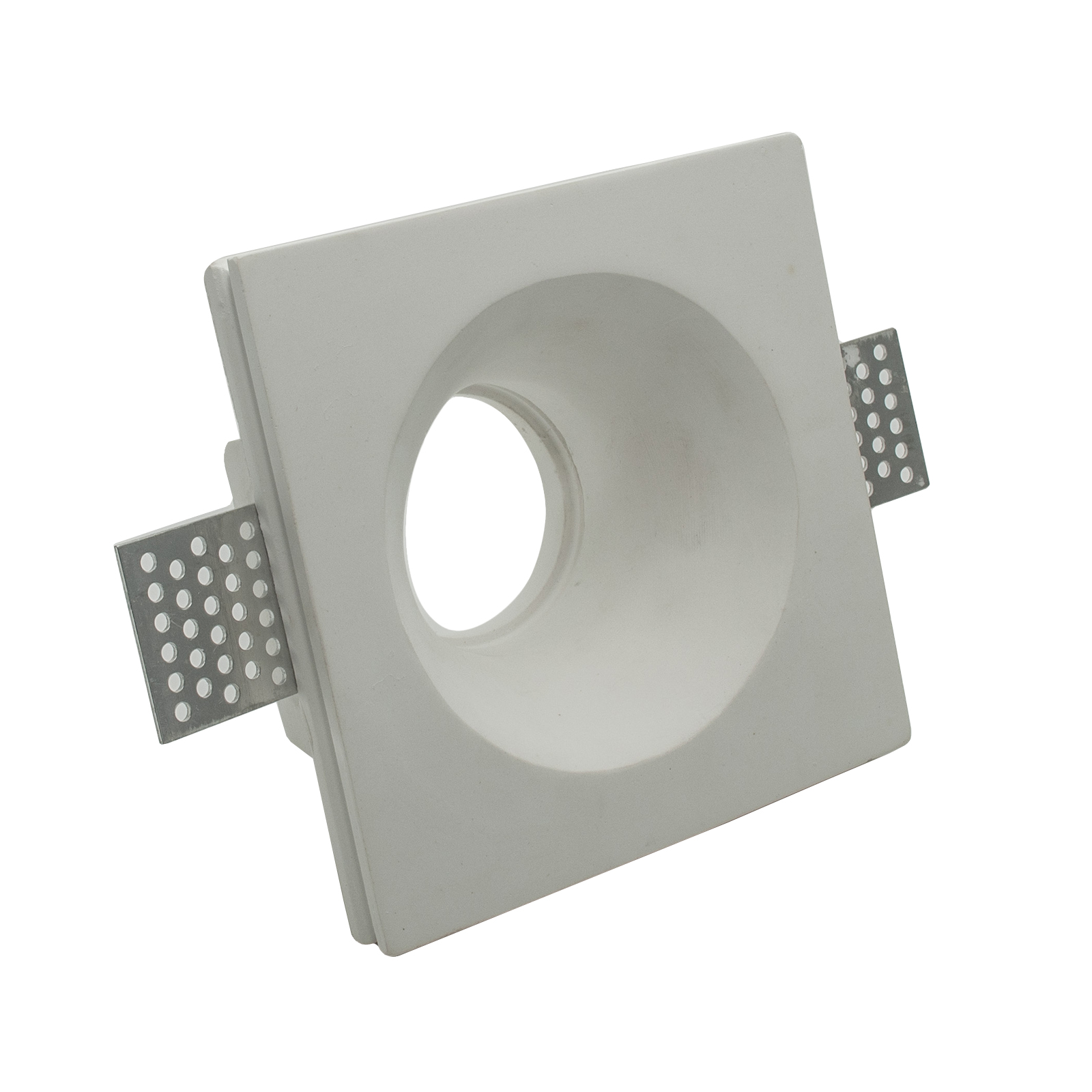 Door spotlight round plaster recessed concealed hole 10cm lamp holder LED GU10