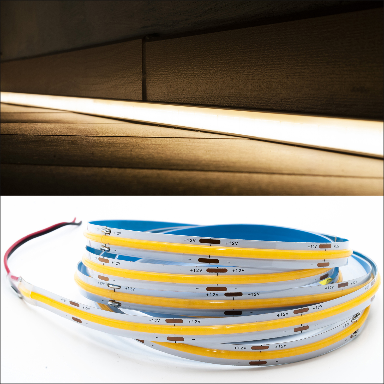 Flexible COB LED strip linear blade continuous light profiles 70W 12V 5M 7000lm