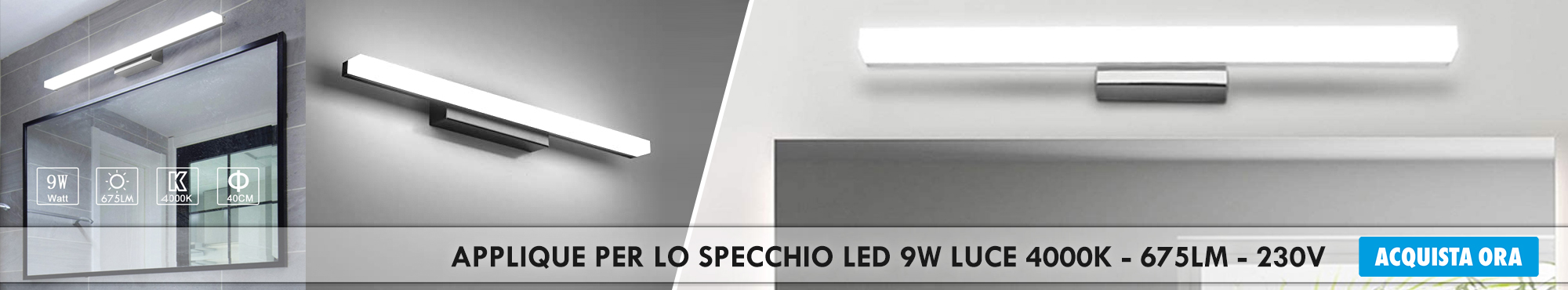 APPLIQUE-SPECCHIO-LED