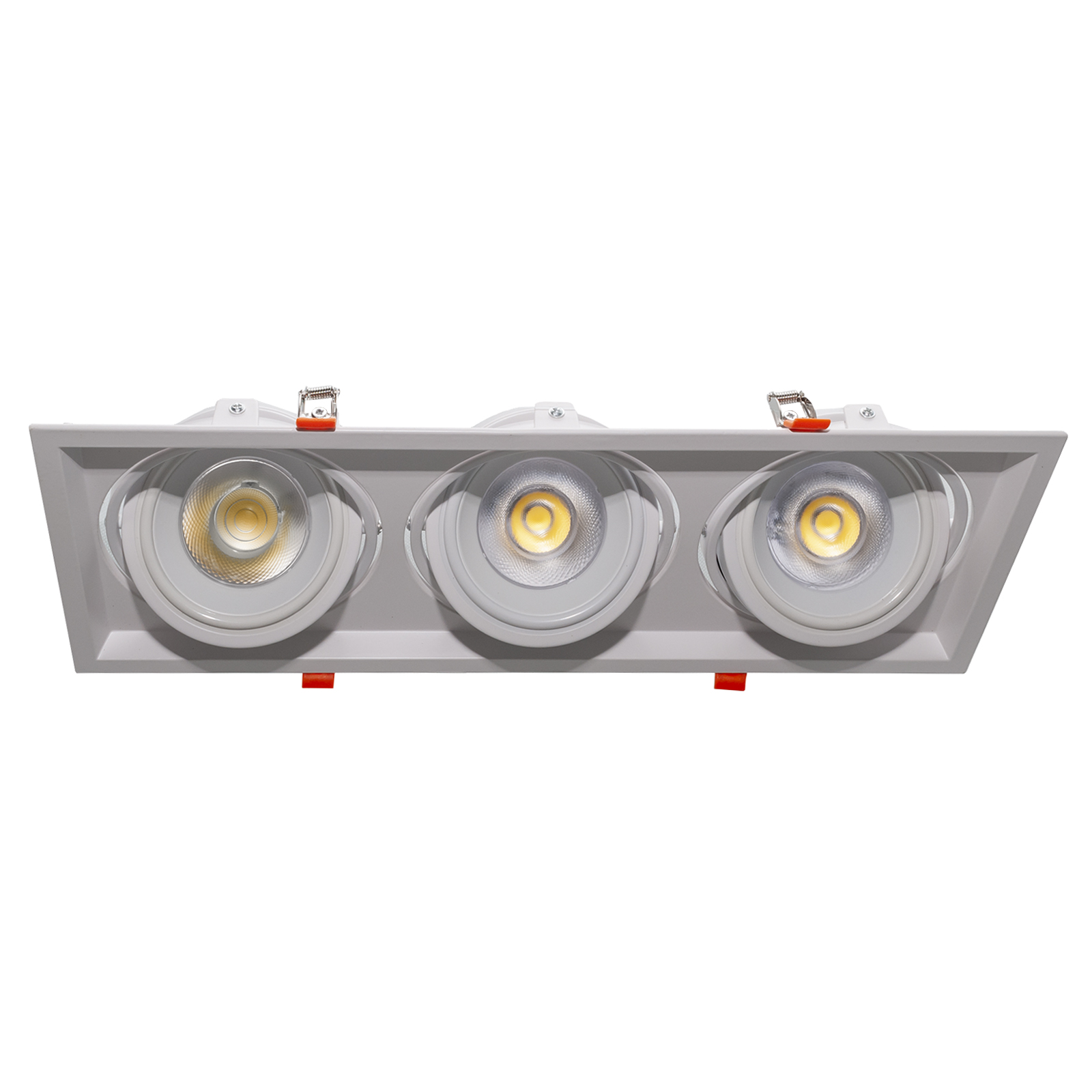 Spotlight 3 LED lamps 90W AR111 recessed lights office shop windows 230V 8100lm