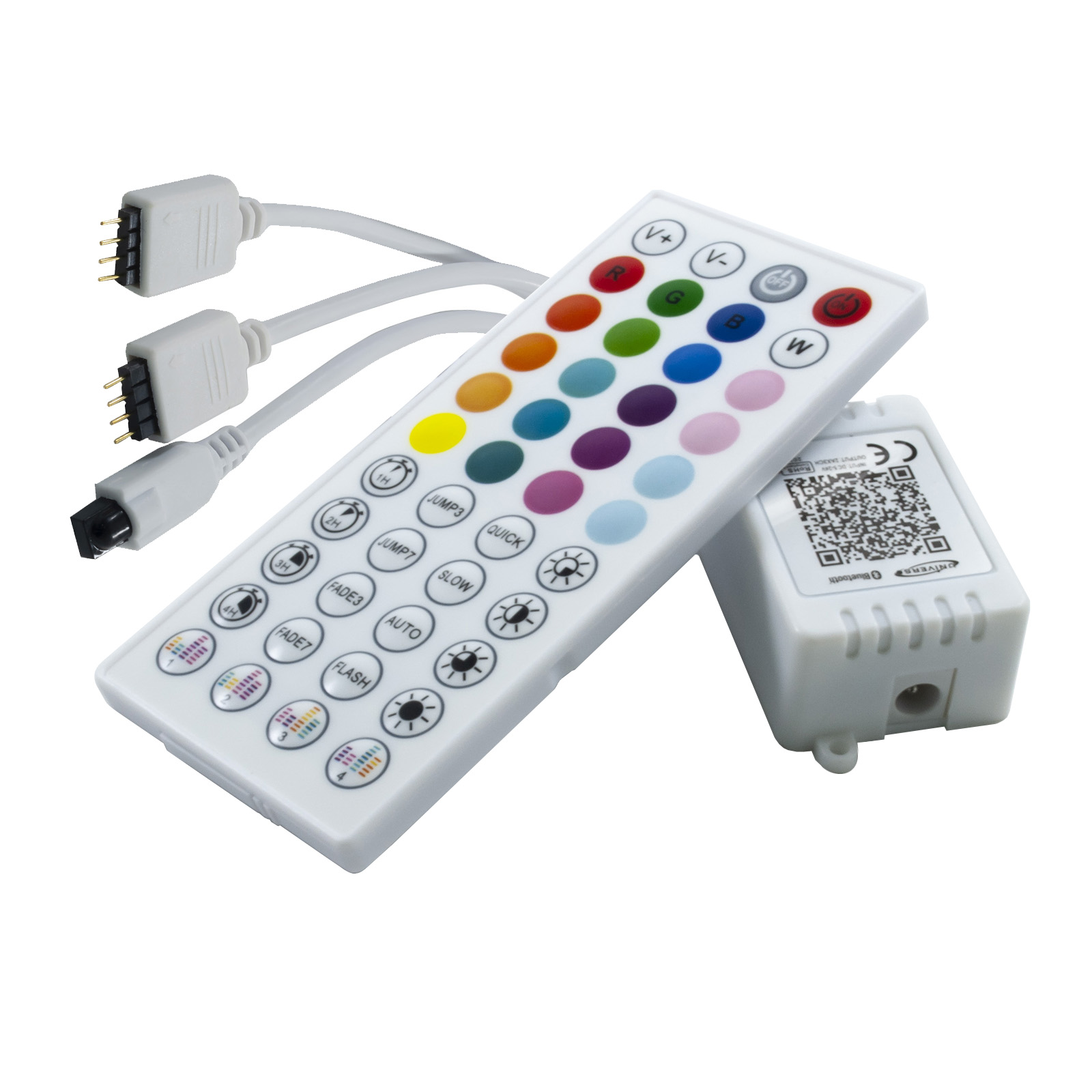 Music control unit RGB BLUETOOTH strips LED TV boat camper truck 12V 24V 5V