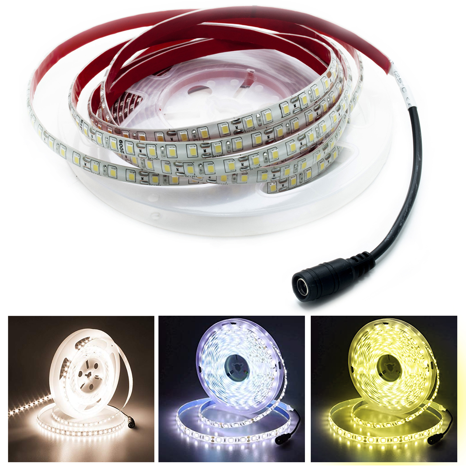 Waterproof LED strip 50W high brightness 4500lm 12V outdoor lights IP55 5mt