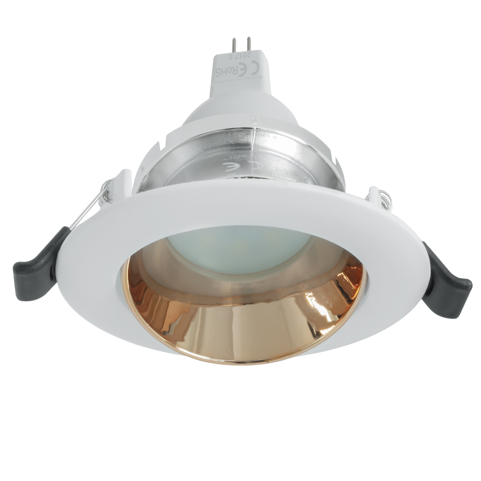Round LED spotlight 7W recessed ceiling light 12V GU5.3 low voltage boat 75mm