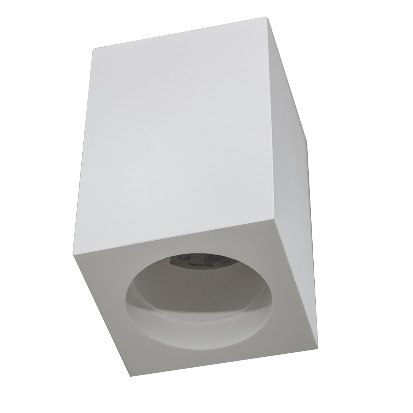 Square door spotlight GU10 ceiling light plaster interior shop ceiling 230V