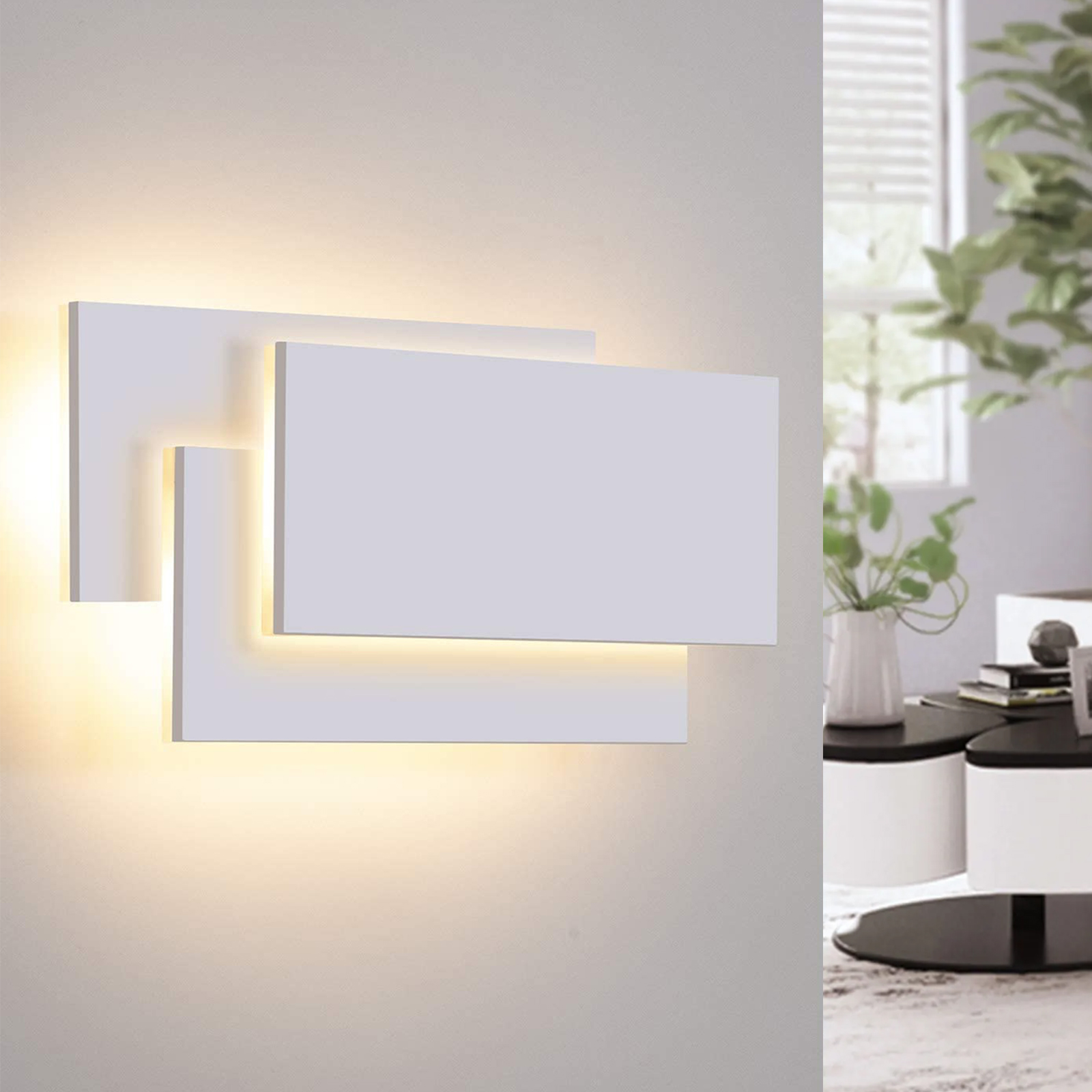 Modern rectangular LED wall light 12W wall lamp living room office 230V
