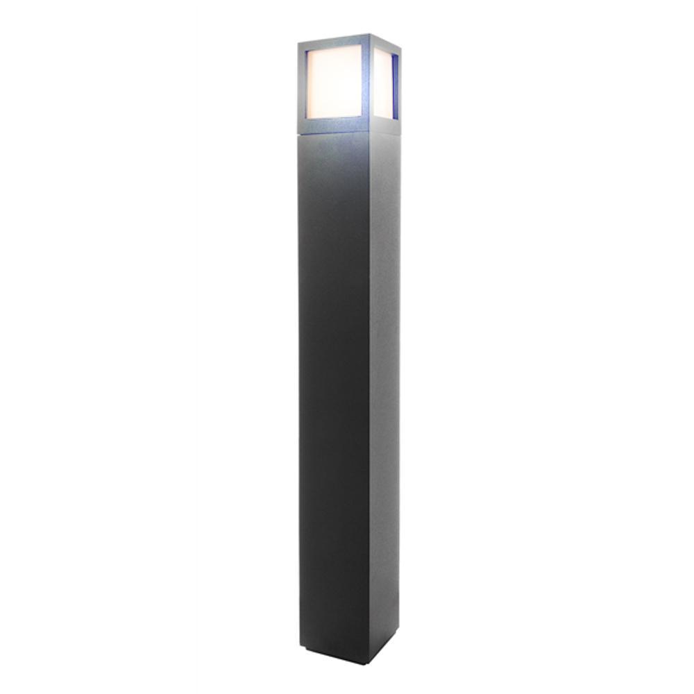 Paletto lampione giardino alluminio pressofuso led 10w 10w 10w E27 altezza 1mt RGBW | Forme élégante  743a57