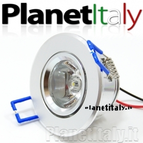 Faretto punto luce led 1x5 watt luce calda 3000k foro incasso 5 cm spot led light 5w 220v