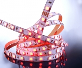 Striscia led RGB flexible led strip 300 LED SMD5050 12V 5 metri IP20 cromoterapia multicolore