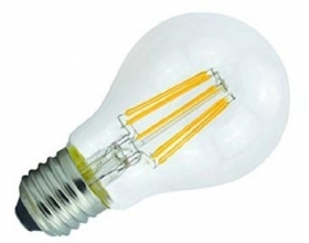 Lampada filamento led E27 6W luce calda 2700K LED FILAMENT LIGHT BULB filo led 230v