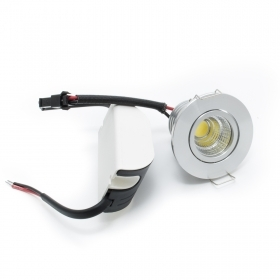 Faretto led foro incasso 45mm orientabile mono led 3w spot 230v driver incluso