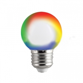 Bulb led E27 mini globe multi-color rgb, color therapy 230V decorative lighting