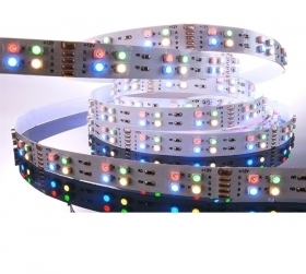 Striscia led RGBW strip led 5 metri 720 led 57.50w cromoterapia cambia colore luce RGBWW
