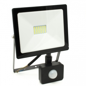 Led floodlight 20w SMD slim motion sensor PIR outdoor light 6400k led downlight IP65