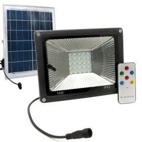 Led floodlight 10w spotlight twilight outdoor IP65 solar panel remote control