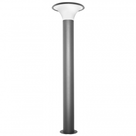 Street lamp pole, anthracite grey die-cast aluminium garden lighting 100cm 220v
