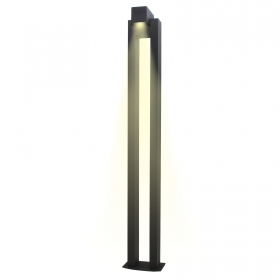 Lamp 6w led pole garden aluminium diecast 1m bollard ip54 warm light