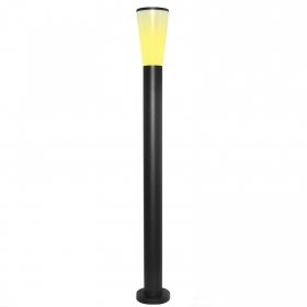 Led street lamp 9w garden lighting bollard aluminium 1m warm light 230v