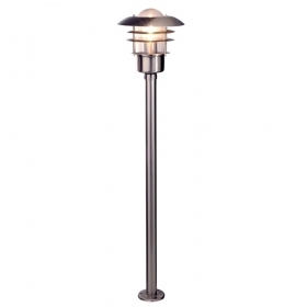 Led street lamp garden 110cm stainless steel pole light bulb 10w e27 RGBW
