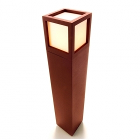Bollard lamp post garden brown die-cast aluminum led 10w E27 65cm RGBW
