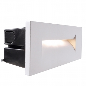Segnapassi modern recessed rectangular white LED 8W garden light IP65 3000K